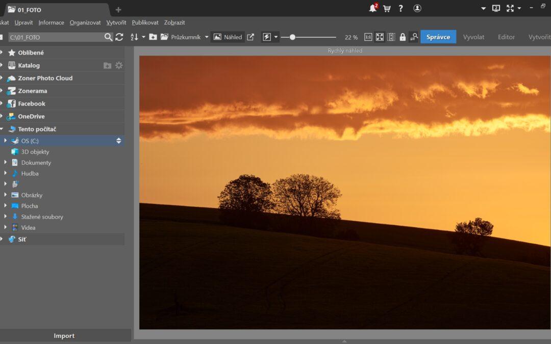 Výběr nejpoužívanějších klávesových zkratek Zoner Photo Studio X